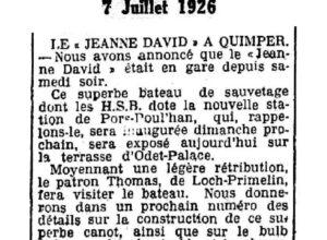 Ouest-Eclair du 7 juillet 1926