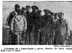 Article Ouest Eclair du 9 juillet 1926 - L'équipage