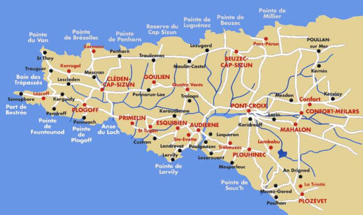 Carte du Cap-Sizun