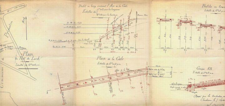 plan de la cale du Loch Primelin de 1905