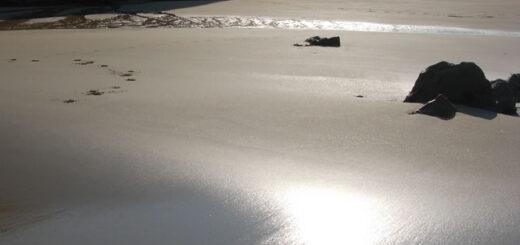 Le sable de la baie des Trépassés - Photo Sandro prise le samedi 3 septembre à 19h00