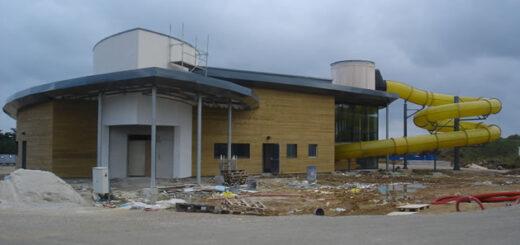 La piscine en construction