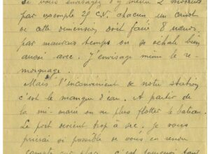 Courrier de Jean-Marie THOMAS à Léon BERTHAUT en février 1935