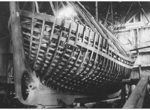 Construction du bateau de sauvetage CV de Kerros à Fécamp au CNN 4