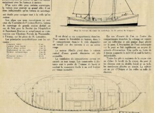 Article sur le bateau de Kerros dans la revue Le Yacht n°2760 du 18 Avril 1936