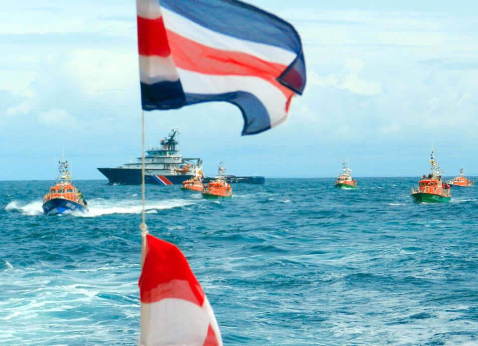 Abeille Flandre et bateaux SNSM